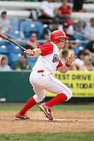 July 4th 2008:  Infielder Bryan Frew (9) of the Williamsport Crosscutters, Class-A affiliate of the Philadelphia Phillies, during a game at Bowman Field in Williamsport, PA.  Photo by:  Mike Janes/Four Seam Images