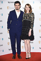 Damien Chazelle &amp; Emma Stone at the 2017 BAFTA Film Awards Nominees party held at Kensington Palace, London, UK. <br /> 11 February  2017<br /> Picture: Steve Vas/Featureflash/SilverHub 0208 004 5359 sales@silverhubmedia.com
