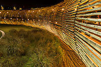 Dos Lagos Bamboo Bridge at Night in Corona California