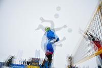 ST. ANTON, AUSTRIA, 14.04.2019- VÔLEI DE NEVE - EUROPEAN TOUR : Exposição múltipla durante a partida de vôlei de neve a contar para a CEV Snow Volleyball European Tour 2019, em St. Anton, Austria, nesse domingo 14. (Foto: Bruno de Carvalho / Brazil Photo Press)