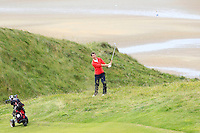 William Russell (Clandeboye) on the 8th during Round 3 of The South of Ireland in Lahinch Golf Club on Monday 28th July 2014.<br /> Picture:  Thos Caffrey / www.golffile.ie