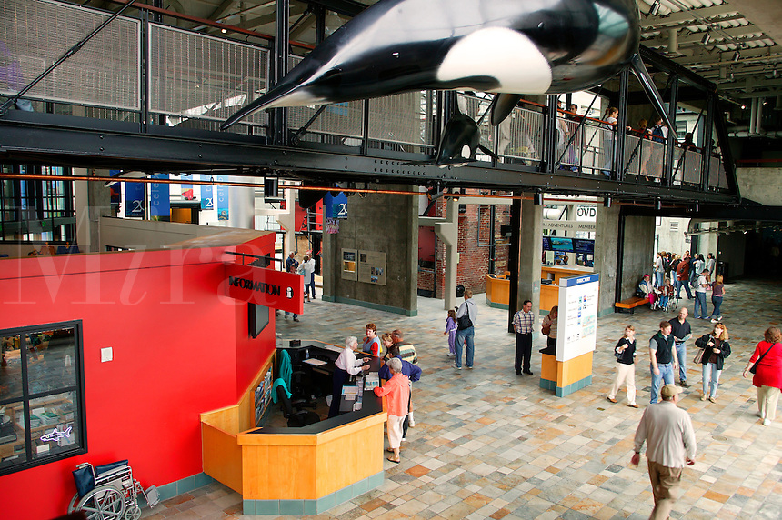 The Hovden Cannery exhibit at The Monterey Bay Aquarium, Monterey, California