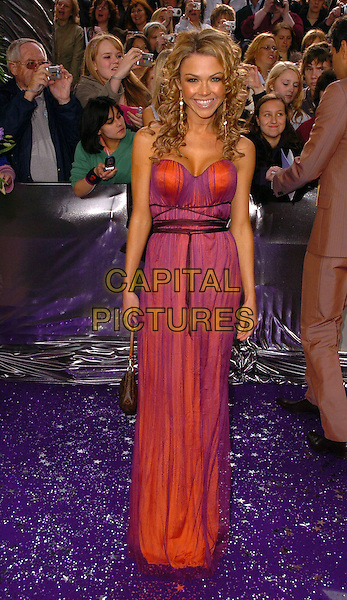 ADELE SILVA.The Brtish Soap Awards - Arrivals,.BBC Television centre, London, .London, England, May 20th 2006..full length purple and pink dress strapless.Ref: CAN.www.capitalpictures.com.sales@capitalpictures.com.©Can Nguyen/Capital Pictures