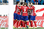 Atletico de Madrid's players celebrate goal during La Liga match.September 22,2015. (ALTERPHOTOS/Acero)