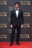 Alfred Enoch arriving for the Olivier Awards 2018 at the Royal Albert Hall, London, UK. <br /> 08 April  2018<br /> Picture: Steve Vas/Featureflash/SilverHub 0208 004 5359 sales@silverhubmedia.com