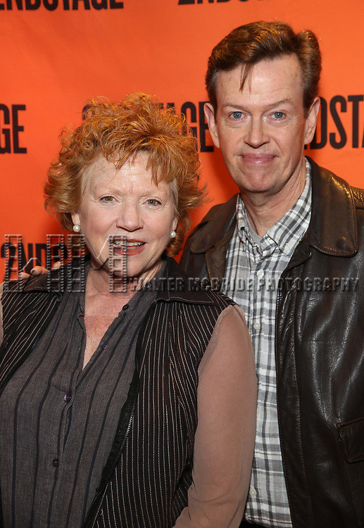 Becky Ann Baker and Dylan Baker attends the Off-Broadway Opening Night performance of the Second Stage Production on 'Torch Song'  on October 19, 2017 at Tony Kiser Theater in New York City.