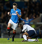 Lee Wallace celebrates after scoring