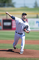 Peoria Javelinas starting pitcher Walker Lockett (62), of the San Diego Padres organization, delivers a pitch during a game against the Scottsdale Scorpions on October 19, 2017 at Peoria Stadium in Peoria, Arizona. The Scorpions defeated the Javelinas 13-7.  (Zachary Lucy/Four Seam Images)