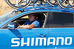 Shimano neutral service during Stage 13 of the 2017 La Vuelta, running 198.4km from Coin to Tomares, Seville, Spain. 1st September 2017.<br />