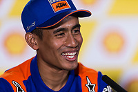 31st October 2019; Sepang Circuit, Sepang Malaysia; MotoGP Malaysia, Practice Day;  The number 55 Red Bull KTM Tech 3 rider Hafizh Syahrin during the press conference - Editorial Use