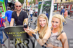 Pictured at the launch of the Lady Gaga Fame Perfume in CH Chemist on Friday, from left: Amy Harnett, Stephanie Horan, and Eoin Fitzgerald pictured on Segway.