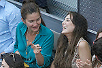 Spanish chef Samantha Vallejo-Nagera and Tamara Falcó Preysler during Madrid Open Tennis 2015 Final match.May, 10, 2015.(ALTERPHOTOS/Acero)
