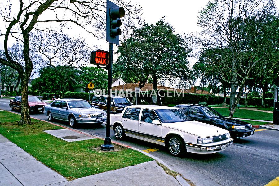 Bairro de Beverly Hills em Los Angeles. 1990. EUA. Foto de Juca Martins.