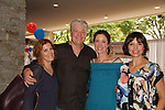 Liz Keifer - Jennifer Roszell - Michelle Ray Smith pose with Guiding Light's Michael O'Leary hosts the 2nd Annual Bauer Barbeque  with trivia contests, Family Feud contest, photos, autographs, Q & A on October 8, 2017 - a part of the Guiding Light Daytime Stars and Strikes for Autism weekend at the Residence Inn, Secaucus, New Jersey. (Photo by Sue Coflin/Max Photo)