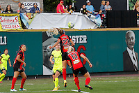 Rochester, NY - Saturday July 09, 2016: Courtney Niemiec during a regular season National Women's Soccer League (NWSL) match between the Western New York Flash and the Seattle Reign FC at Frontier Field.