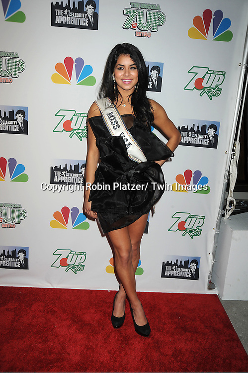 "Miss USA Rima Fakih posing for photographers at ""The Celebrity Apprentice""..Season Four Finale Party on May 22, 2011 at The Trump Soho Hotel in New York City."