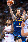 Spain's basketball player Sergio Rodriguez during the  match of the preparation for the Rio Olympic Game at Madrid Arena. July 23, 2016. (ALTERPHOTOS/BorjaB.Hojas)