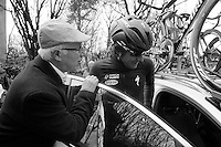 Gent-Wevelgem 2013.Tom Boonen (BEL) abandons the race after a crash proved to be severe enough