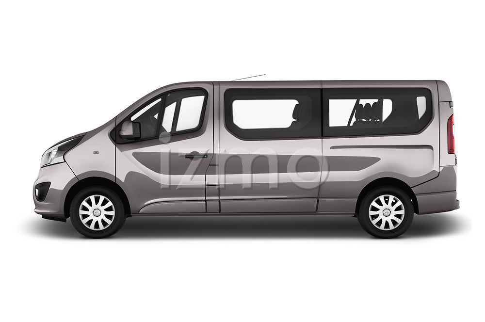 Car Driver side profile view of a 2016 Opel Vivaro Business 4 Door Combi Side View