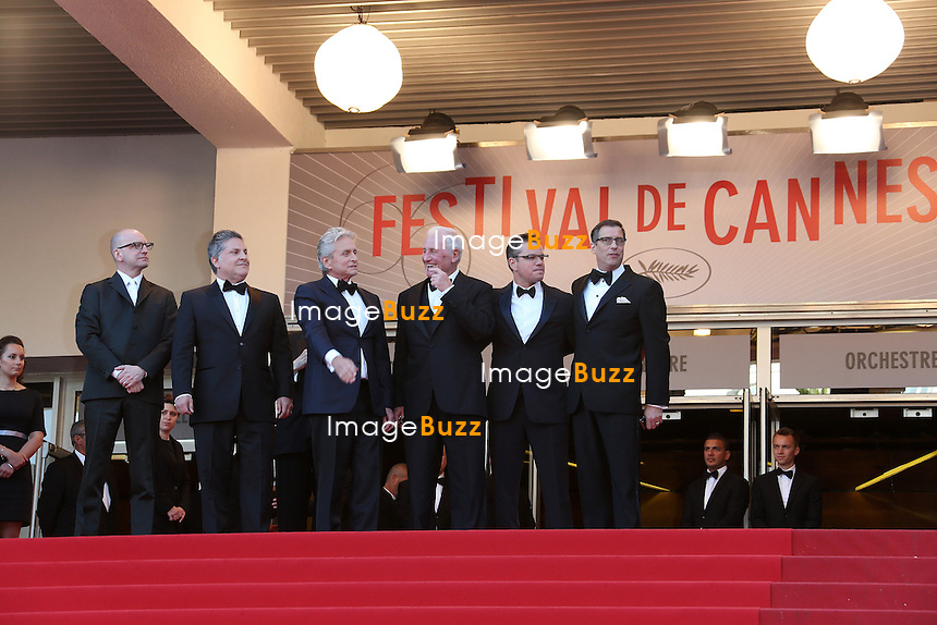 CPE/Michael Douglas, Matt Damon, Richard Lagravanese and Jerry Weintraub attends the ''Behind The Candelabra' premiere during The 66th Annual Cannes Film Festival at The 60th Anniversary Theatre on May 21, 2013 in Cannes, France.