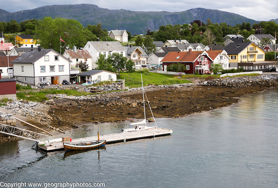 Waterside buildings, Bronnoy,  Bronnoysund, Nordland, Norway
