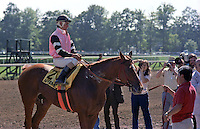 Affirmed (Exclusive Native) on Affirmed Day at Saratoga 1979.  1978 Triple Crown winner.