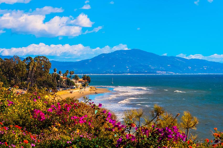 Butterfly Beach, Montecito (Santa Barbara), California USA.