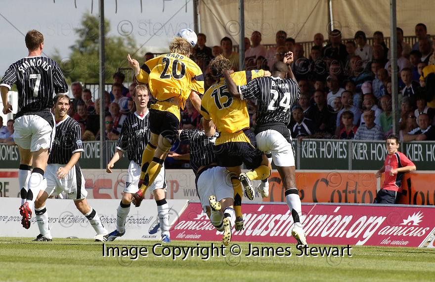05/08/2006        Copyright Pic: James Stewart.File Name : sct_jspa03_falkirk_v_dunfermline.DARREN BARR HEADS HOME FALKIRK'S FIRST...Payments to :.James Stewart Photo Agency 19 Carronlea Drive, Falkirk. FK2 8DN      Vat Reg No. 607 6932 25.Office     : +44 (0)1324 570906     .Mobile   : +44 (0)7721 416997.Fax         : +44 (0)1324 570906.E-mail  :  jim@jspa.co.uk.If you require further information then contact Jim Stewart on any of the numbers above.........