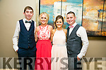 Enjoying the Rathmore Debs at Ballyroe Heights Hotel on Tuesday were l-r  Damien Murphy, Kay McAuliffe, Lisa Reen and George Nagle