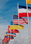 Flags of the World, USA prominent..