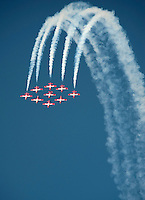 "111008-N-DR144-605 SAN FRANCISCO (Oct. 8, 2011) The Canadian Forces 432 Air Demonstration Squadron ""The Snowbirds"" performs during San Francisco's Fleet Week Air Show.  U.S. Navy photo by Mass Communication Specialist 2nd Class James R. Evans (RELEASED)"