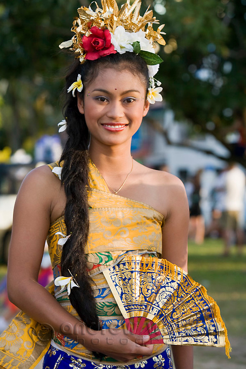 Balinese dancer at Cairns Festival Parade.  Cairns, Queensland, Australia