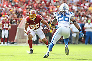 Landover, MD - September 16, 2018: Washington Redskins tight end Jordan Reed (86) runs after catching a pass during the  game between Indianapolis Colts and Washington Redskins at FedEx Field in Landover, MD.   (Photo by Elliott Brown/Media Images International)