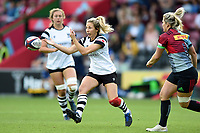 Elinor Snowsill of Bristol Bears Women passes the ball. Tyrrell's Premier 15s match, between Harlequins Ladies and Bristol Bears Women on September 15, 2018 at the Twickenham Stoop in London, England. Photo by: Patrick Khachfe / Onside Images