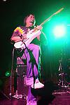 November 3, 2011 New York: Guitarist / Musician June Yamagishi of Papa Grows Funk performs Hiro Ballroom on November 3, 2011 in New York.