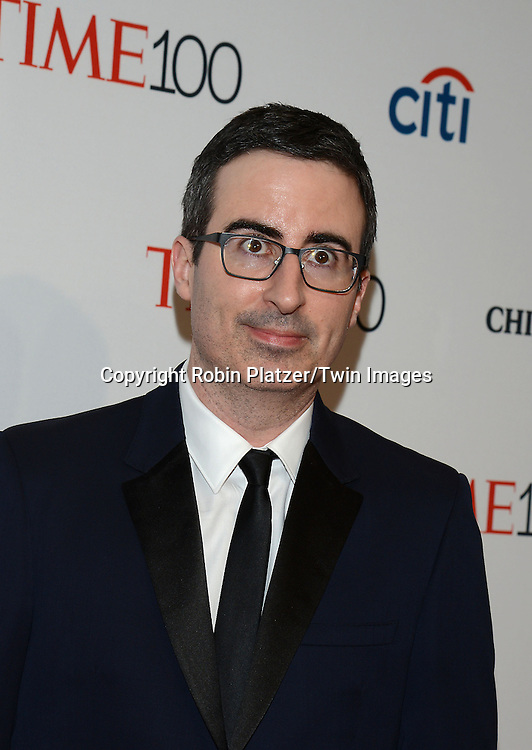 John Oliver attends the TIME 100 Issue celebrating the 100 Most Influential People in the World on April 21, 2015 <br /> at Frederick P Rose Hall at Lincoln Center in New York City, New York, USA.<br /> <br /> photo by Robin Platzer/Twin Images<br />  <br /> phone number 212-935-0770