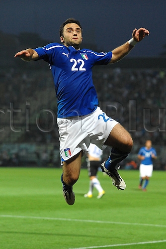 03 06 2011 l Giuseppe Rossi No 22 Celebrates Scoring for Italy Modena  Stadio Braglia   Football Calcio Italia vs Estonia