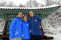 Para - Portraits /  Snowboarders Sean Pollard, Ben Tudhope and Simon Patmore PyeongChang 2018 Paralympic Games<br /> Australian Paralympic Committee<br /> PyeongChang South Korea<br /> Thursday March 8th 2018<br /> &copy; Sport the library / Jeff Crow