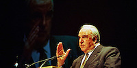 Former German Chancellor Helmut Kohl during his last election campain before voted out, 1998
