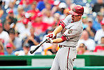 15 August 2010: Arizona Diamondbacks first baseman Adam LaRoche in action against the Washington Nationals at Nationals Park in Washington, DC. The Nationals defeated the Diamondbacks 5-3 to take the rubber match of their 3-game series. Mandatory Credit: Ed Wolfstein Photo
