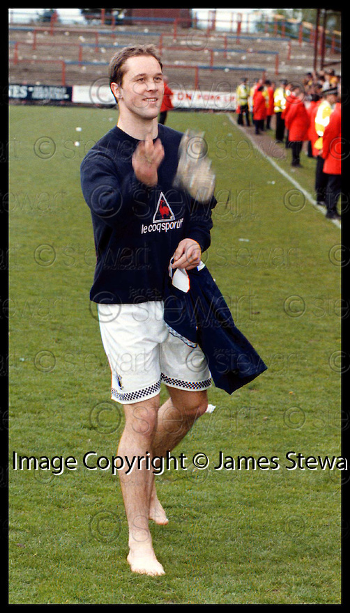9th May 98     Copyright Pic : James Stewart   .FALKIRK FC V AIRDRIE.MARINO KEITH THROWS HIS BOOTS TO THE FANS AT THE END OF THE MATCH.........Payments to :-.James Stewart Photo Agency, Stewart House, Stewart Road, Falkirk. FK2 7AS      Vat Reg No. 607 6932 25.Office : 01324 630007        Mobile : 0421 416997.If you require further information then contact Jim Stewart on any of the numbers above.........