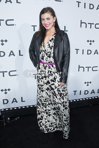 BROOKLYN, NY - OCTOBER 20: Shayna Leigh on arrivals for TIDALx1020 Concert at Barclays Center in Brooklyn, NY on October 20, 2015. Credit: Abel Fermin/MediaPunch