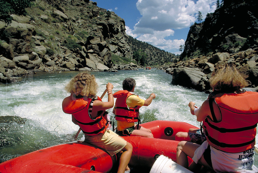 Whitewater rafting.