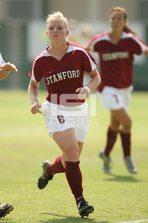 9 September 2007: Alicia Jenkins during Stanford's 2-1 overtime win over #2 Notre Dame at Buck Shaw Stadium in Santa Clara, CA.