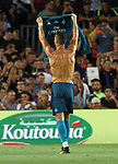 Cristiano Ronaldo in action during Supercopa de España game 1 between FC Barcelona against Real Madrid at Camp Nou