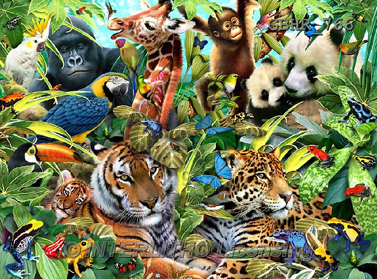 Howard, REALISTIC ANIMALS, REALISTISCHE TIERE, ANIMALES REALISTICOS, paintings+++++,GBHR766,#A# ,puzzles