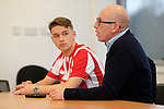 Dany Verlinden and his son Thibaud Verlinden at Stoke City training ground - Football - Barclays Premier League - Stoke City