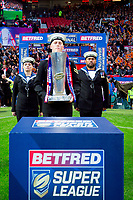 Picture by Alex Whitehead/SWpix.com - 07/10/2017 - Rugby League - Betfred Super League Grand Final - Castleford Tigers v Leeds Rhinos - Old Trafford, Manchester, England - Trophy Entrance.