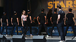 Taylor Louderman and Kyle Selig and 'Mean Girls' cast performing at the United Airlines Presents: #StarsInTheAlley Produced By The Broadway League on June 1, 2018 in New York City.
