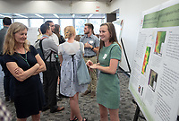 """Biogeochemistry of CO2 and CH4 Related to Vegetation Health in Soils"" by Eleanor Amann (Mentor: Christopher Oze, Geology)<br /> Occidental College's Undergraduate Research Center hosts their annual Summer Research Conference, Aug. 1, 2018. Student researchers presented their work as either oral or poster presentations at the final conference. The program lasts 10 weeks and involves independent research in all departments.<br /> (Photo by Marc Campos, Occidental College Photographer)"